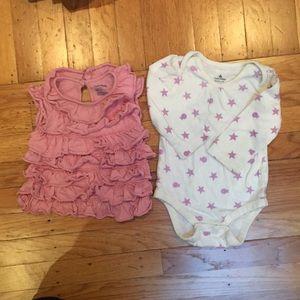 Baby gap ruffle shirt and bodysuit